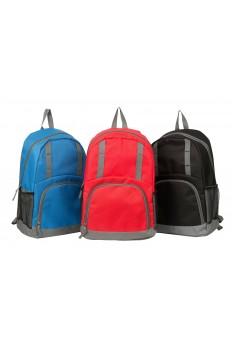 Grey Stripe Backpack